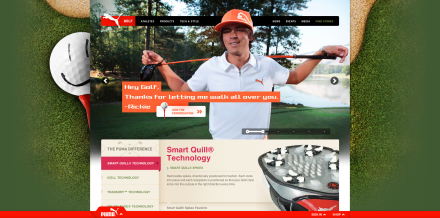 Screen shot from Puma.com/golf