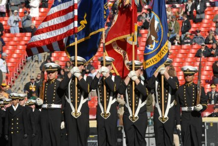 Color Guard at Army Navy Football 2011