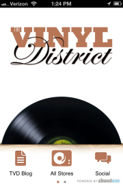 The Vinyl District mobile iPhone app